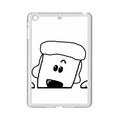 Peeping White Poodle iPad Mini 2 Enamel Coated Cases by TailWags
