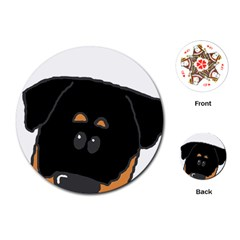 Peeping Rottweiler Playing Cards (Round)  by TailWags