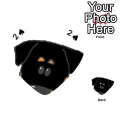 Peeping Rottweiler Playing Cards 54 (Heart)