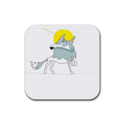 8yellowcats Arctic Wolf Coaster By Marialawless   Rubber Square Coaster (4 Pack)   5g52utwbvd4g   Www Artscow Com Front