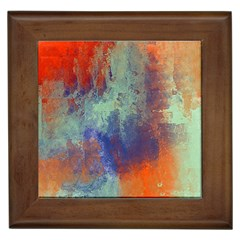 Abstract In Green, Orange, And Blue Framed Tiles by theunrulyartist