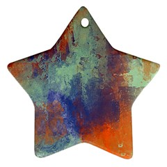 Abstract In Green, Orange, And Blue Ornament (star)