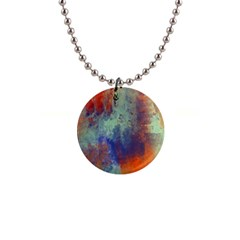 Abstract In Green, Orange, And Blue Button Necklaces by theunrulyartist
