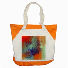 Abstract In Green, Orange, And Blue Accent Tote Bag  by digitaldivadesigns