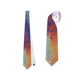 Abstract in Green, Orange, and Blue Neckties (One Side)  by theunrulyartist