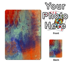 Abstract In Green, Orange, And Blue Multi Purpose Cards (rectangle)