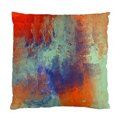 Abstract In Green, Orange, And Blue Standard Cushion Case (one Side)  by theunrulyartist