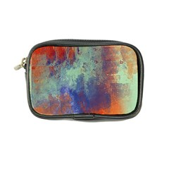 Abstract In Green, Orange, And Blue Coin Purse by theunrulyartist
