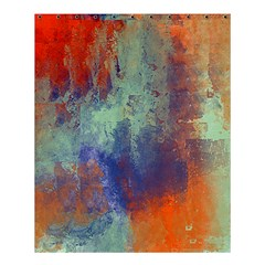 Abstract In Green, Orange, And Blue Shower Curtain 60  X 72  (medium)  by theunrulyartist