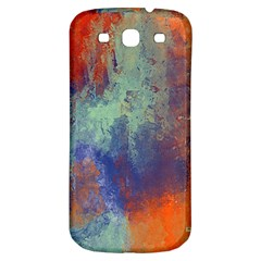 Abstract In Green, Orange, And Blue Samsung Galaxy S3 S Iii Classic Hardshell Back Case by theunrulyartist
