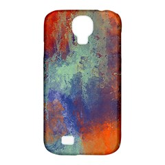 Abstract In Green, Orange, And Blue Samsung Galaxy S4 Classic Hardshell Case (pc+silicone) by theunrulyartist