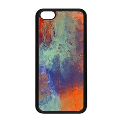 Abstract In Green, Orange, And Blue Apple Iphone 5c Seamless Case (black) by theunrulyartist