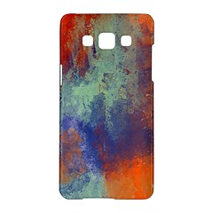 Abstract In Green, Orange, And Blue Samsung Galaxy A5 Hardshell Case  by theunrulyartist