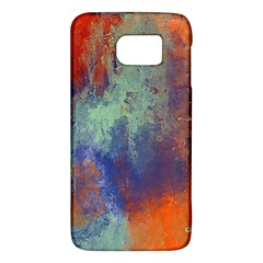 Abstract In Green, Orange, And Blue Galaxy S6 by theunrulyartist