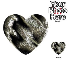 Brilliant Metal 5 Multi Purpose Cards (heart)  by MoreColorsinLife
