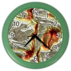 Brilliant Metal 3 Color Wall Clocks by MoreColorsinLife