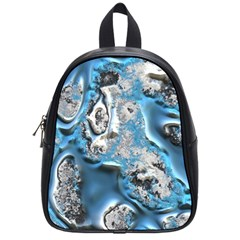 Metal Art 11, Blue School Bags (small)  by MoreColorsinLife