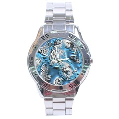 Metal Art 11, Blue Stainless Steel Men s Watch by MoreColorsinLife