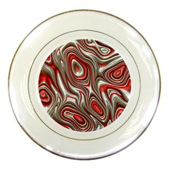 Metal Art 9 Red Porcelain Plates by MoreColorsinLife
