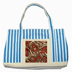 Metal Art 9 Red Striped Blue Tote Bag  by MoreColorsinLife