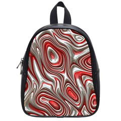Metal Art 9 Red School Bags (small)  by MoreColorsinLife