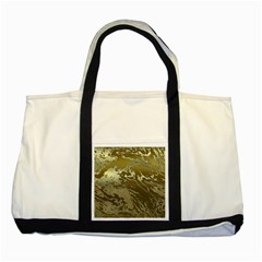 Metal Art Swirl Golden Two Tone Tote Bag  by MoreColorsinLife