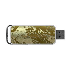 Metal Art Swirl Golden Portable Usb Flash (two Sides) by MoreColorsinLife