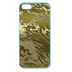 Metal Art Swirl Golden Apple Seamless iPhone 5 Case (Color) by MoreColorsinLife