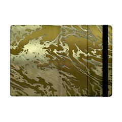 Metal Art Swirl Golden Apple iPad Mini Flip Case by MoreColorsinLife