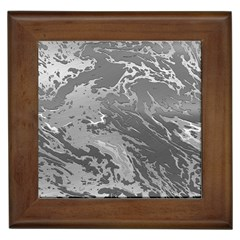 Metal Art Swirl Silver Framed Tiles by MoreColorsinLife