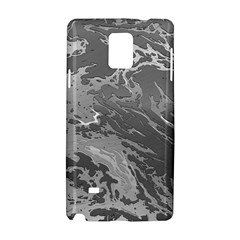 Metal Art Swirl Silver Samsung Galaxy Note 4 Hardshell Case by MoreColorsinLife