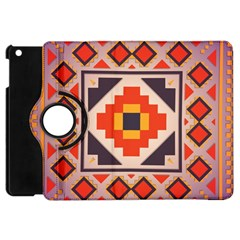 Rustic Abstract Design Apple Ipad Mini Flip 360 Case by LalyLauraFLM