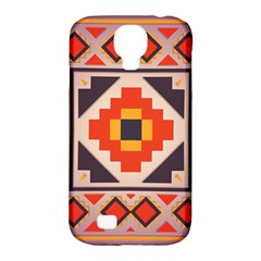 Rustic Abstract Design Samsung Galaxy S4 Classic Hardshell Case (pc+silicone) by LalyLauraFLM
