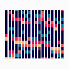 Stripes And Rectangles Pattern Small Glasses Cloth (2 Sides) by LalyLauraFLM