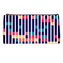 Stripes And Rectangles Pattern Pencil Case by LalyLauraFLM