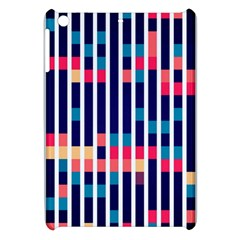 Stripes And Rectangles Pattern Apple Ipad Mini Hardshell Case by LalyLauraFLM
