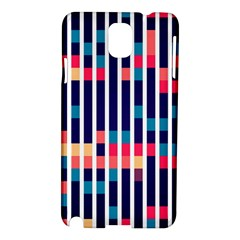 Stripes And Rectangles Pattern Samsung Galaxy Note 3 N9005 Hardshell Case by LalyLauraFLM