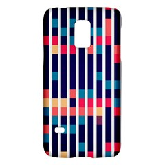 Stripes And Rectangles Patternsamsung Galaxy S5 Mini Hardshell Case by LalyLauraFLM