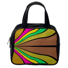 Symmetric Waves Classic Handbag (one Side) by LalyLauraFLM