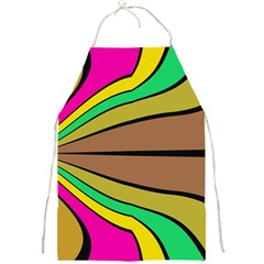 Symmetric Waves Full Print Apron by LalyLauraFLM