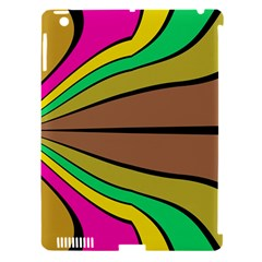 Symmetric waves Apple iPad 3/4 Hardshell Case (Compatible with Smart Cover) by LalyLauraFLM