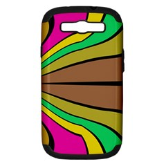 Symmetric waves Samsung Galaxy S III Hardshell Case (PC+Silicone) by LalyLauraFLM