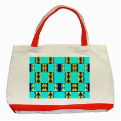 Triangles in rectangles pattern Classic Tote Bag (Red) by LalyLauraFLM