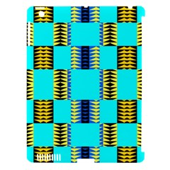Triangles In Rectangles Pattern Apple Ipad 3/4 Hardshell Case (compatible With Smart Cover) by LalyLauraFLM