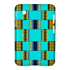 Triangles In Rectangles Pattern Samsung Galaxy Tab 2 (7 ) P3100 Hardshell Case  by LalyLauraFLM