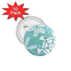 Snowflakes 3  1 75  Buttons (10 Pack) by theimagezone