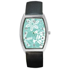 Snowflakes 3  Barrel Metal Watches by theimagezone