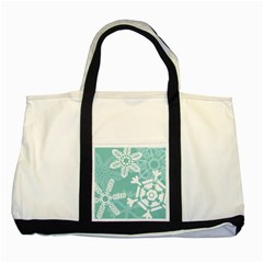 Snowflakes 3  Two Tone Tote Bag  by theimagezone