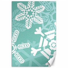 Snowflakes 3  Canvas 20  X 30   by theimagezone