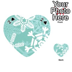 Snowflakes 3  Playing Cards 54 (heart)  by theimagezone